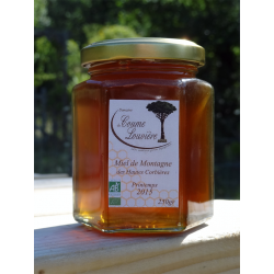 "Organic ""Hautes Corbières"" Mountain honey - Spring 2015 harvest - jar 250g"