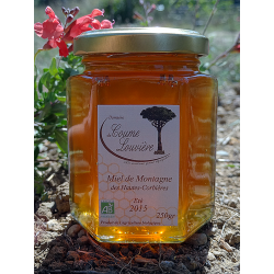 "Organic ""Hautes Corbières"" mountain honey - summer 2015 harvest - jar 250g"