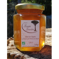 Organic Fir Honey and Sault Plateau Mountain Flowers - jar 250g