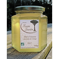 Organic Acacia Honey - jar 500g - 2017 harvest