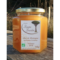 "Organic ""Hautes-Corbières""Mountain honey, spring 2018 harvest - jar 500g"